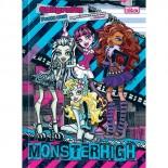 Caderno Pedagógico Brochura Capa Dura Pauta Azul Monster High 40fls (Pacote com 10 unidades)