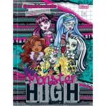 Caderno Pedagógico Brochura Capa Dura Quadriculado 1x1 Monster High 40fls (Pacote com 10 unidades)