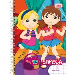 Caderno Pedagógico Capa Dura 1/4 Aritmética 7x7mm Sapeca - 96 Folhas PC com 4