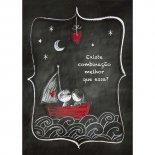 Cartão Handmade Beauty Amor Estampa Barco do Amor - Grafon's