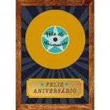 Cartão Handmade Beauty Aniversário Estampa Disco- Grafon's