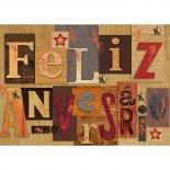 Cartão Handmade Beauty Aniversário Estampa Feliz Aniversário- Grafon's