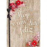 Cartão Handmade Beauty Aniversário Estampa Dia Feliz- Grafon's
