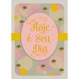 Cartão Handmade Beauty Aniversário Estampa Poá Dourado- Grafon's