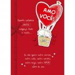 Cartão Handmade Beauty Amor Estampa Balões- Grafon's