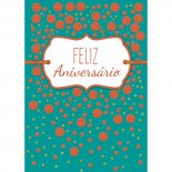 Cartão Handmade Beauty Aniversário Estampa Poá Laranja- Grafon's