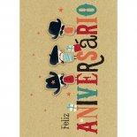 Cartão Handmade Beauty Aniversário Estampa Feliz aniversário bigode - Grafon's