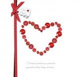 Cartão Handmade Beauty Amor Estampa Coração Decorado- Grafon's