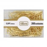 Clips 28mm Dourado 200 Unidades