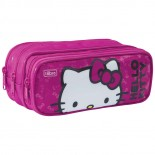 Estojo Triplo Grande Hello Kitty