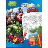 Folhas para Colorir Grande com Giz de Cera Avengers