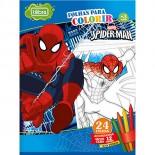 Folhas para Colorir com Giz de Cera Grande Spider-Man