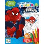 Folhas para Colorir com Giz de Cera Mini Spider-Man