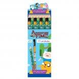 Lápis Preto Redondo N.2 Adventure Time (Caixa com 72 unidades)