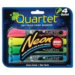 Marcador de Quadro Branco Neon Quartet - Kit com 4 unidades