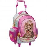 Mochila de Rodinhas Infantil Grande Jolie Pet Cachorro Top