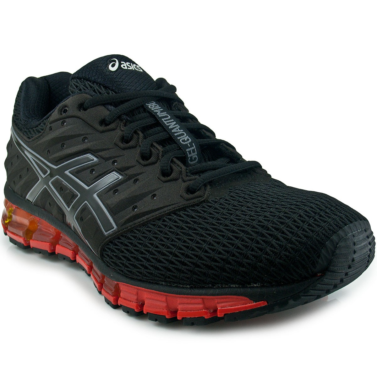 t nis asics gel quantum 180 running performance maxtennis preto vermelho. Black Bedroom Furniture Sets. Home Design Ideas