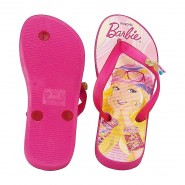 Chinelo Infantil Barbie Flora