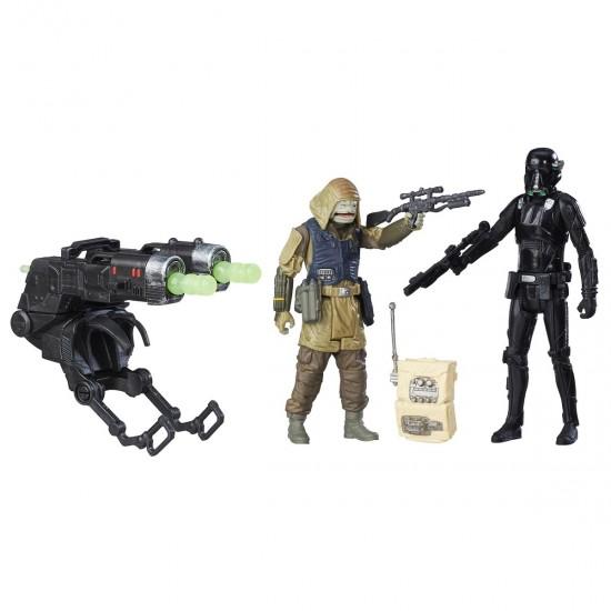 Pack c/ 2 Bonecos - Star Wars Rogue One - Rebel Commando Pao/ Imperial Death Trooper - Hasbro