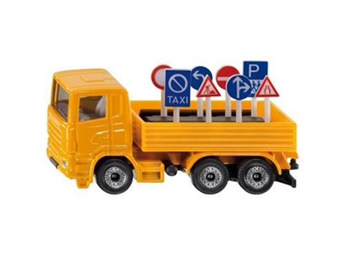 Caminhão com Placas de Trânsito - 3 Eixos - 8cm