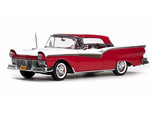 Ford: Fairlane 500 Skyliner (1957) - Vermelho/Branco - 1:18