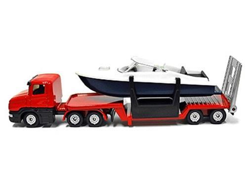 Caminhão com Barco - 16cm