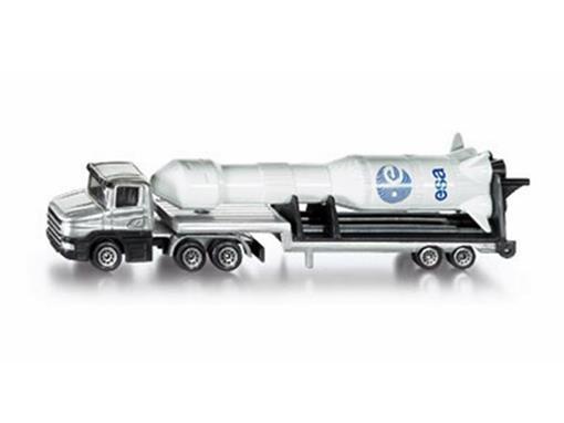 Miniatura Caminhão de Plataforma Baixa com Foguete - HO