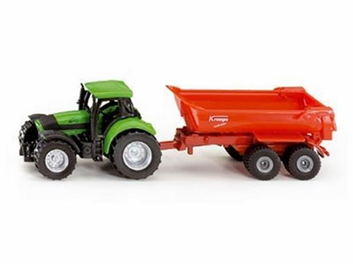 Deutz Fahr: Agrotron 265 com Carreta Basculante - 1:72