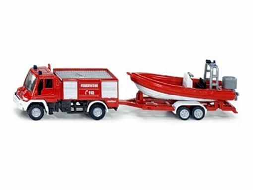 Mecedes Benz: Caminhão com Bote - Bombeiros - HO