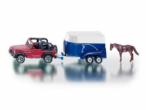 Jeep: Wrangler com Reboque p/ Cavalo - 1:64