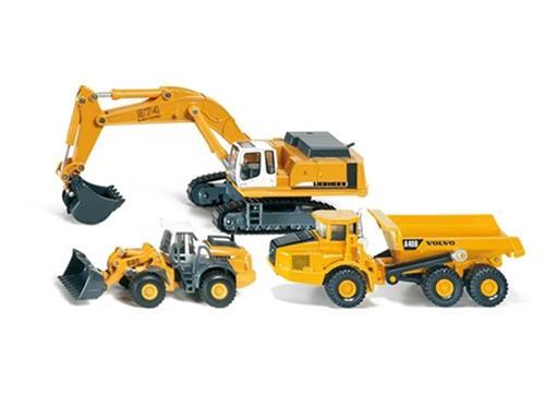 Conjunto Construção: Liebherr 580/Liebherr 974/Volvo A40D - HO