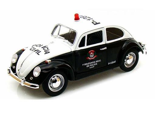 Volkswagen: Fusca (1967) - Policia Civil / São Paulo - 1:18