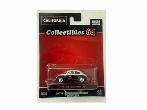 Volkswagen: Fusca (1967) Polícia Civil SP - California - 1:64