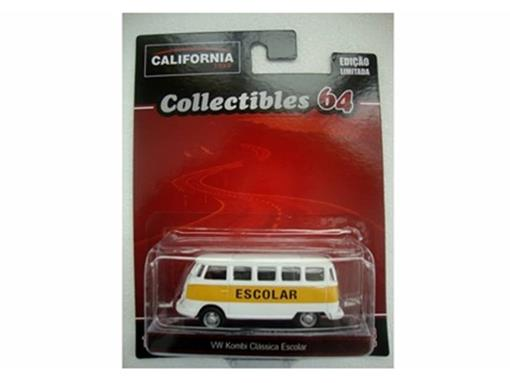 Volkswagen: Kombi - Escolar - California Toys - 1:64