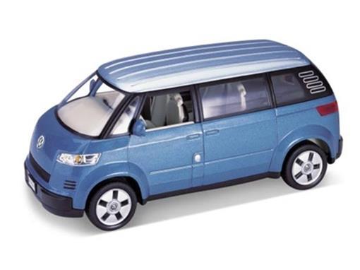 Volkswagen: Microbus (2001) Azul -  1:24 - Welly