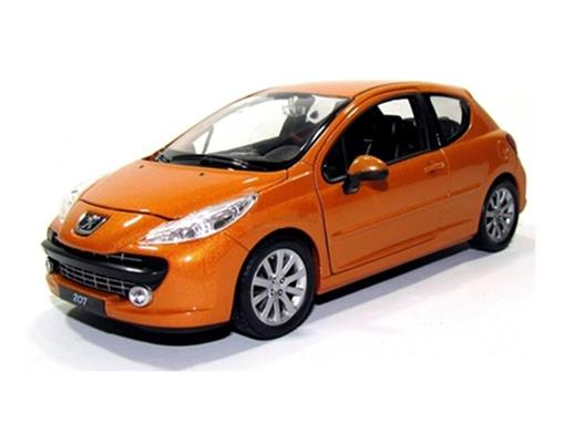 Peugeot: 207 - Laranja - 1:24