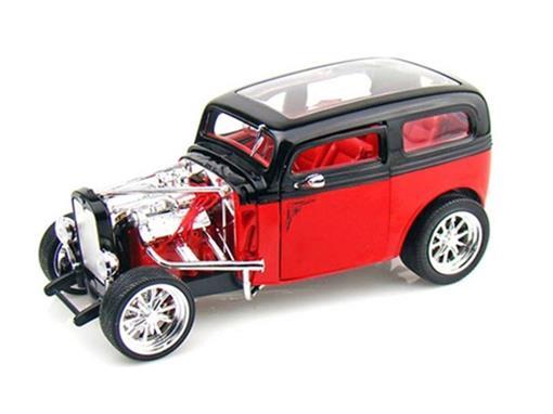 Ford: Model A Custom (1931) - Vermelho/Preto - 1:18