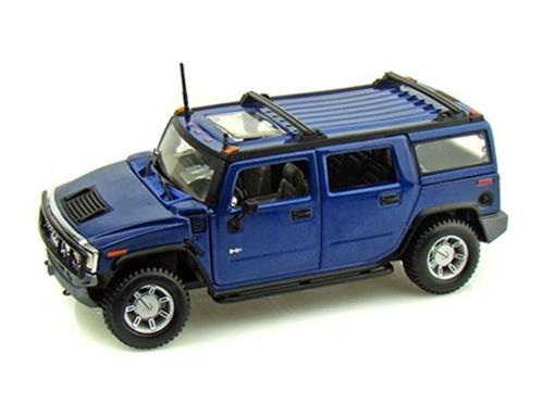 Hummer: H2 SUV (2003) - Azul - 1:27 - Maisto
