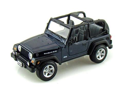 Jeep: Wrangler Rubicon - Azul - 1:27 - Maisto
