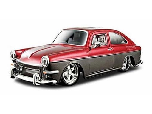 Volkswagen: 1600 Fastback (1967) - Vermelho/Marrom - 1:24