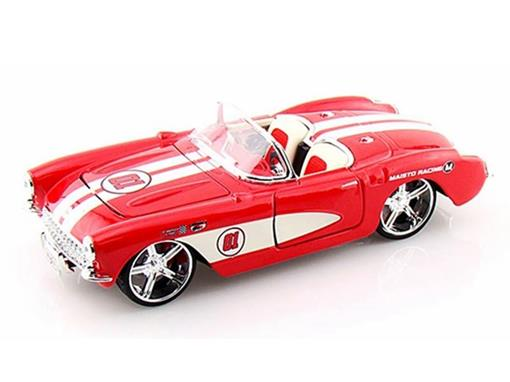 Chevrolet: Corvette (1957) - Vermelho - AllStars - 1:24