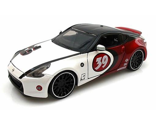 Nissan: 370Z #39 (2009) - Vermelho/Branco - AllStars - 1:24