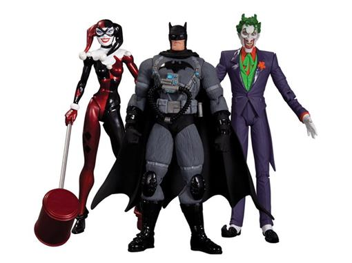 Hush 3-Pack: The Joker, Harley Quinn and Stealth Batman