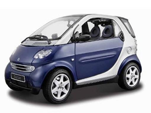 Smart: Fortwo Coupe - Roxo/Prata - 1:18