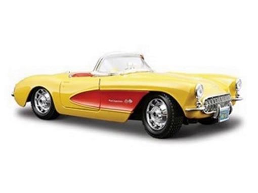Chevrolet: Corvette (1957) - Amarelo - 1:24