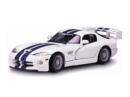 Dodge: Viper GTS - Branco - 1:24 - Maisto