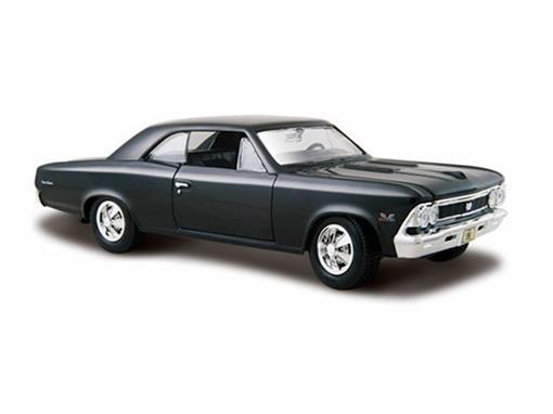 Chevrolet: Chevelle SS 396 (1966) - Preto - 1:24 - Maisto