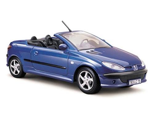 Peugeot: 206 cc - Azul - 1:24 - Maisto