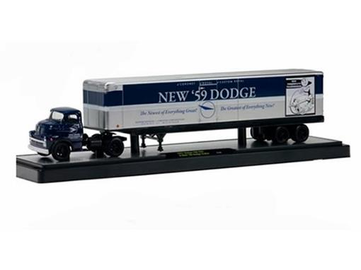Dodge: 700 COE (1957) & New '59 Dodge Trailer - 1:64