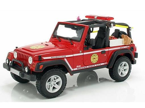 Jeep: Wrangler Rubicon - Vermelho - 1:18